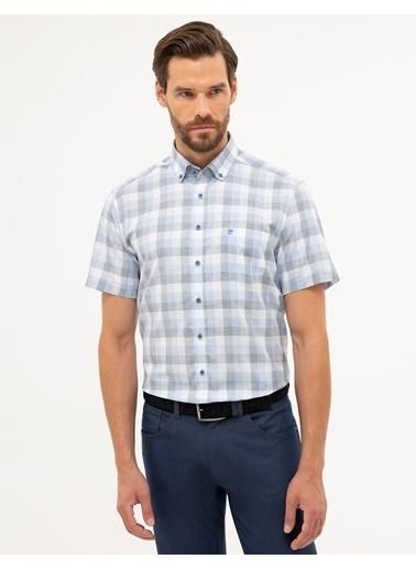 Pierre Cardin Erkek  Kısakol Gömlek G021GL004.000.1112570.VR036 Mavi
